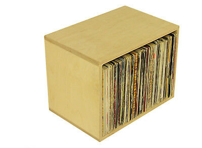"Quality Birch Ply Vinyl Storage Cube, holds 135 12"" Records, DJ Shelving (RSP1)"