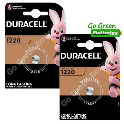 2 x Duracell CR1220 3 Volt Lithium Coin Cell Battery 1220 DL1220 KCR1220, BR1220