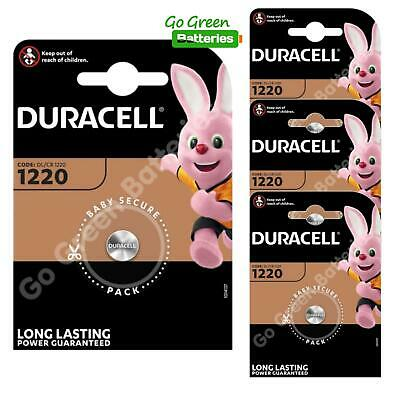 4 x Duracell CR1220 3 Volt Lithium Coin Cell Battery 1220 DL1220 KCR1220, BR1220