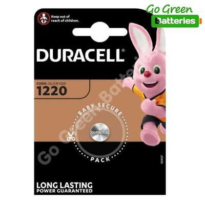 1 x Duracell CR1220 3 Volt Lithium Coin Cell Battery 1220 DL1220 KCR1220, BR1220