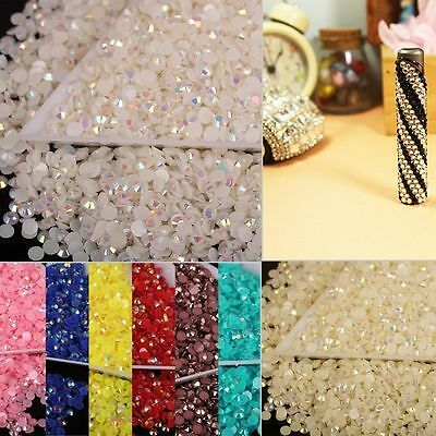 2000x 14 Facets Resin Rhinestone Gem Flat Back Crystal AB Beads 3mm DIY New Hot