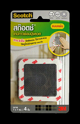 3M SCOTCH Insect Mosquito Screen Fixing Net REPAIR TAPE Patch Adhesive 7x7cm 4pc