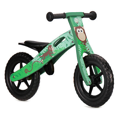 Nicko NIC855 Monkey Children's Kid's Wooden Balance Bike Bicycle 2 - 5 Years