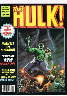 Rampaging Hulk # 14 A Cure for Chaos ! grade 8.0 scarce mag !!