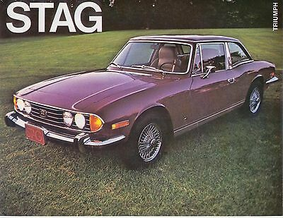 Triumph Stag Early 1970s Original USA Single Sheet Sales Brochure Pub. No. ST721