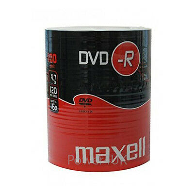 Maxell DVD-R 16x 4.7GB Blank DVDs Media Disks 100 Shrink Wrap Pack