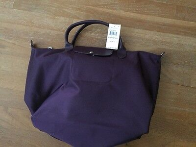 newest 4c400 02c52 Brand New Longchamp Le Pliage Neo Medium Bilberry Crossbody Tote Bag
