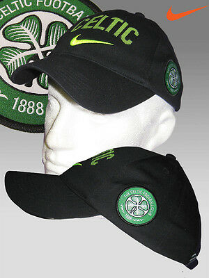 Nike Boys Youth CELTIC FC Baseball Cap Black Lime AUTHENTIC