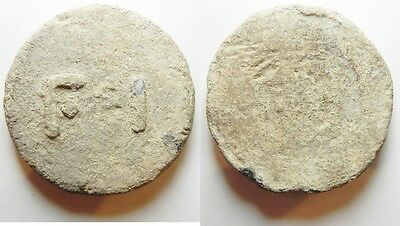 Zurqieh -Azz1- Late Roman/byzantine. Lead 10 Uncia Weight (62Mm, 272.66G). Unifa