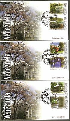 Venezuela 2006 Set Of 5 First Day Cover Central University Scott #1670