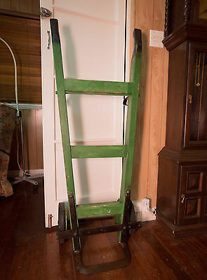 Vintage Railway Hand Trolley 135cmTall Very Good Condition GOLD COAST Industrial