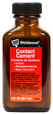 DAP Weldwood Contact Cement Instant Permanent Bond Brush In Cap Glass Bottle 3oz