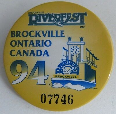 1994 Riverfest Brockville Ontario Pin Pinback Button               (Inv10995)