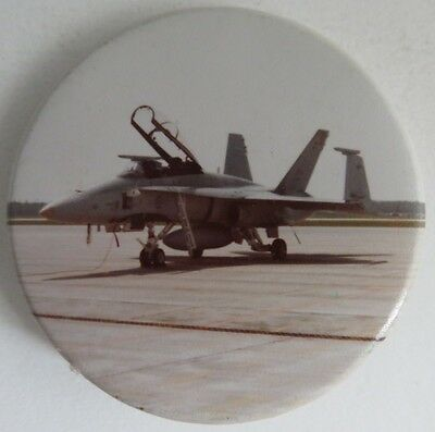Vintage Fighter Jet Pin Pinback Button                  (Inv10984)