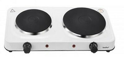 2500W Electric Double Hot Plate Table Top Hotplate Portable Twin Kitchen Plate