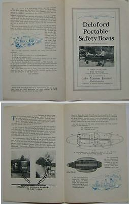 Deloford Portable Safety Boats John Marston Sales Brochure Sunbeam Wolverhampton