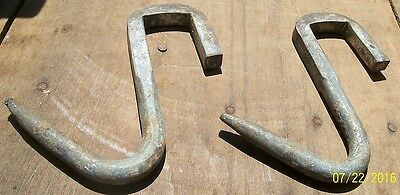 2 Very Dif. Old Hand Made,  Barn-Shed-Porch Wall Hooks