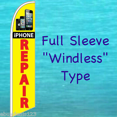 iPHONE REPAIR WINDLESS FEATHER FLAG Cell Phone Swooper Flutter Banner Sign