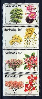 Barbados 1992 Flowering Trees MNH