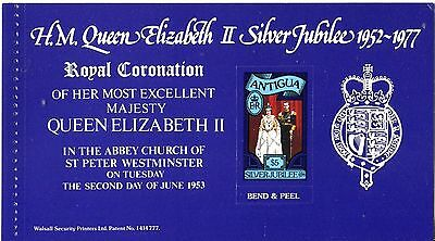 Antigua 1977 Silver Jubilee Booklet Pane #2 MNH