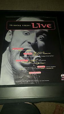 Live Throwing Copper Rare Original Promo Poster Ad Framed!