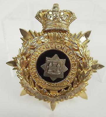 QE2 The East Surrey Regiment Blue Cloth Officers Helmet Plate