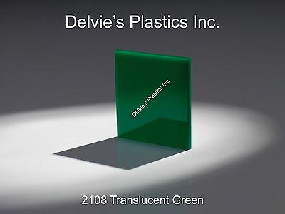 "Green Translucent//Solid Acrylic Plexiglass sheet 1//4/"" x 11/"" x 11/"" #2108"