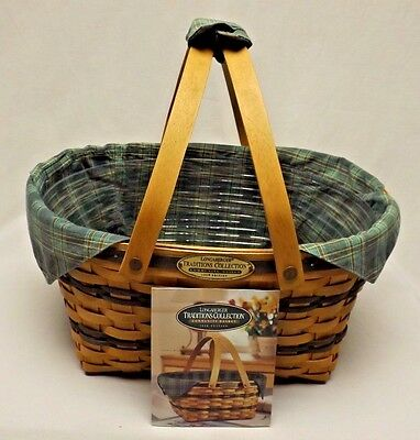 Longaberger 1996 Traditions Collection Community Basket Combo Complete