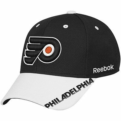 outlet store 35b98 55340 NHL Reebok Philadelphia Flyers Center Ice Stretch Fit Hat - Black White - S