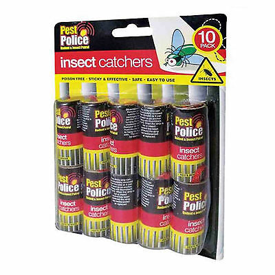 1, 5, 10,20,40 Poison Free Flying Insects Bugs Wasp Sticky Papers Traps Catchers