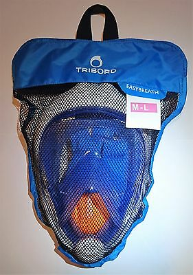 AUTHENTIC Tribord Easybreath Mask, BLUE, size M/L, factory new, latest version