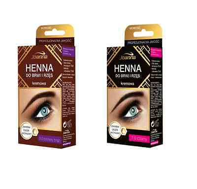Joanna Henna Tint Colour Cream For Eyebrow & Eyelashes Black Deep Brown
