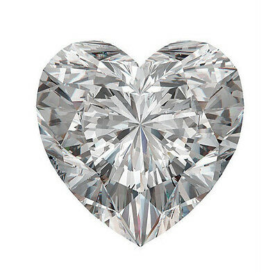 Unique Genuine Heart Shape Moissanite Loose Gemstones, Charles&Colvard All Sizes