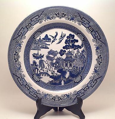 """10 1/4"""" Churchill England BLUE WILLOW China Dinner Plate"""