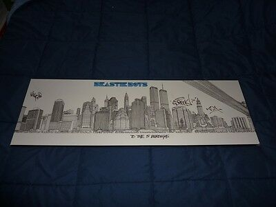 BEASTIE BOYS - To The 5 Boroughs - 12 x 36 Poster - SIGNED - MCA/Ad Rock/Mike D