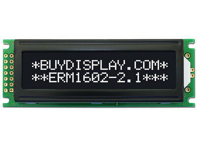 3.3V Black 16x2 Character LCD Display Module w/Tutorial,HD44780,White Backlight