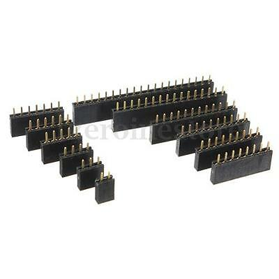 MEW 10X2.54mm jefe del Pin Hembra Conector Apilable Pin Header Connector Pins