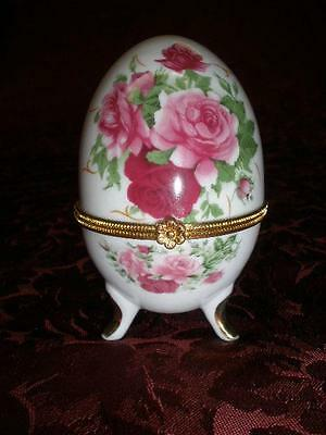 Lovely Porcelain Egg Shaped Trinket Box