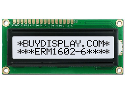 3.3V Wide Angle 16x2 Character LCD Module w/Tutorial,HD44780,Backlight,Arduino
