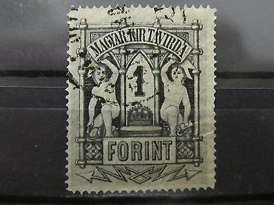 A2P33 HUNGARY TELEGRAPH STAMP 1874 PERF 13 1fo USED