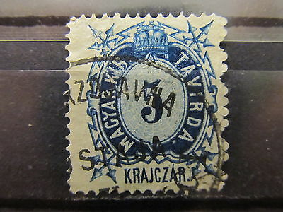 A2P33 HUNGARY TELEGRAPH STAMP 1874 PERF 13 5k USED