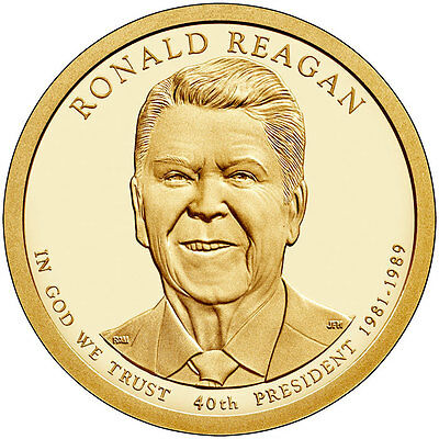 USA: 1 dolar 2016 D - 40º Presidente RONALD REAGAN  1981-1989 1$ USA