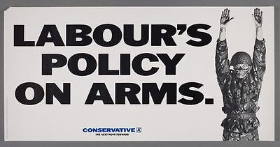 Vintage Conservative Party Anti Labour Defence Policy Election Poster A3 Print