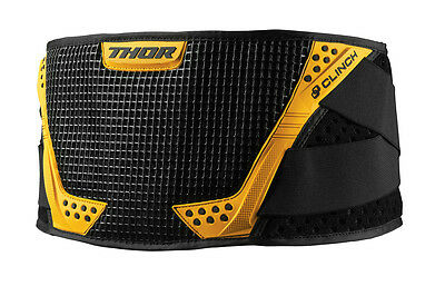 THOR MX Motocross Kids CLINCH Kidney Protection Belt (Black/Yellow) Youth