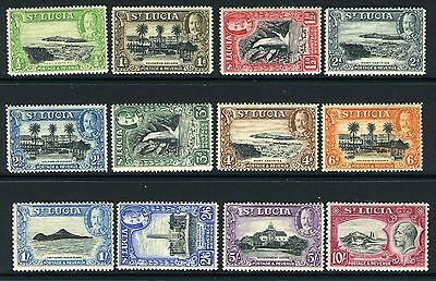 ST LUCIA-1936  A lightly mounted mint set to 10/- Sg 113-124