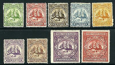 TURKS & CAICOS ISLANDS-1900-4 A mounted mint set to 3/- Sg 101-109