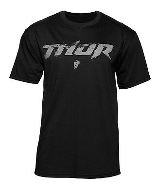 THOR MX Motocross Men's 2017 ROOST Short Sleeve Tee T-Shirt (Black) L (Large)