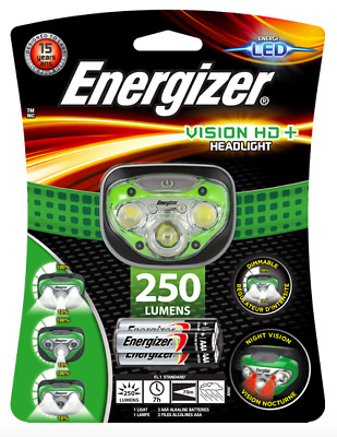Energizer Vision Hd+ 200 Lumens Led Advanced Pro Headlights W/ 70M Beam Distance