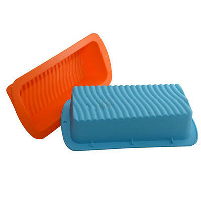 Food-Grade Silicone Square Loaf Wave Bottom Bread Cake Baking Pan DIY Mould Tray