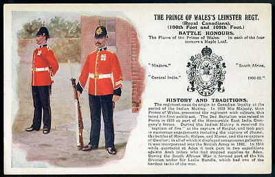 PRINCE of WALES'S LEINSTER REGIMENT History&Traditions. (BLACK INK variety) 1909